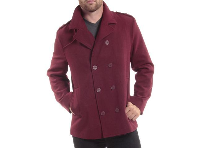 cef35c6e93 ... Alpine Swiss Jake Mens Pea Coat Wool Blend Double Breasted Dress Jacket  Peacoat ...