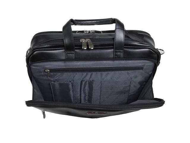 AlpineSwiss Leather Laptop Case Shoulder Strap Portfolio