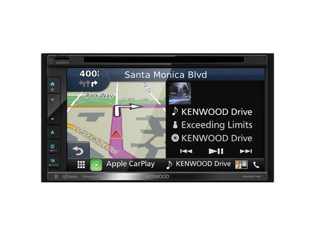 "Double DIN Navigation In-Dash DVD/CD/AM/FM Car Stereo w/ 6.8"" Touch Screen with Built-in HD Radio and Bluetooth"