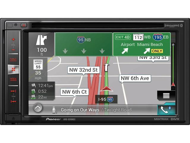 "Pioneer AVIC-5200NEX DVD CD Navigation Receiver w/ 6.2"" Touchscreen"