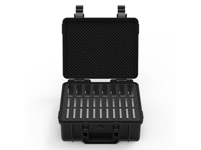 ORICO 30-Bay Hard Drive Protective Box Hand-held HDD Storage Case 8-Bay for 3.5-inch SSD/HDD, 22 Bay for 2.5-inch Shockproof HDD Protector Storage Box -Black