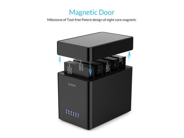 ORICO 5 Bay Magnetic-type 3.5 inch Hard Drive Enclosure USB3.0 to SATA3.0 3.5 in HDD Case Support UASP 12VPower MAX 50TB