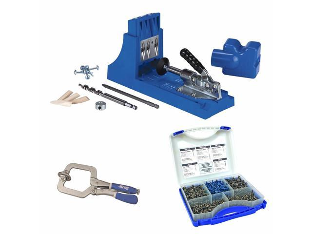 Kreg Jig K4 Pocket Hole System w/ Pocket-Hole Screw in 5 Sizes and Face Clamp