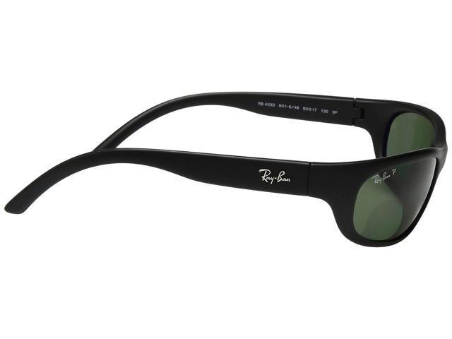 2388e80dac ... Ray-Ban RB4033 Polarized Sunglasses (Matte Black Polarized Green  Classic G-15 ...