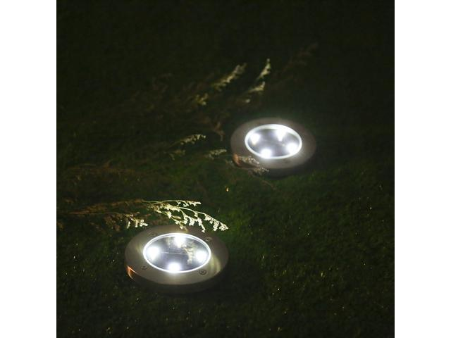 tomshine 4pcs solar powered ground light outdoor lamp 4 led 40lm path garden