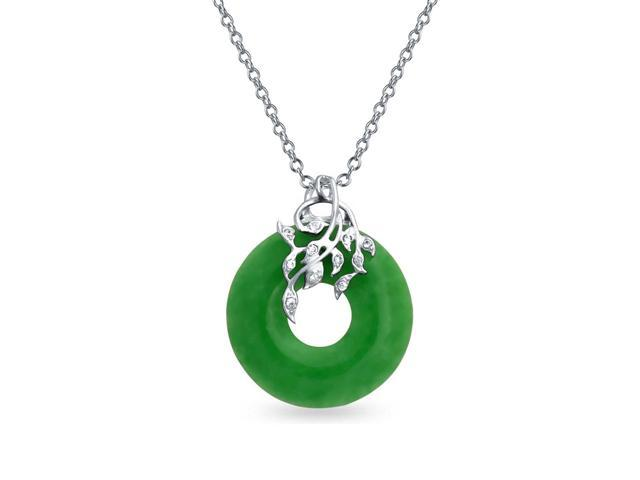 Bling jewelry cz leaves and dyed green jade disc pendant 925 bling jewelry cz leaves and dyed green jade disc pendant 925 sterling silver aloadofball Images