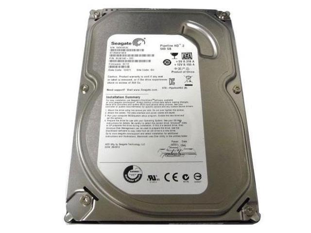 """Refurbished: Seagate Grade A ST3500414CS 500GB 3.5"""" HDD SATA 3.0Gb/s AV Desktop Internal Hard Drive - OEM"""