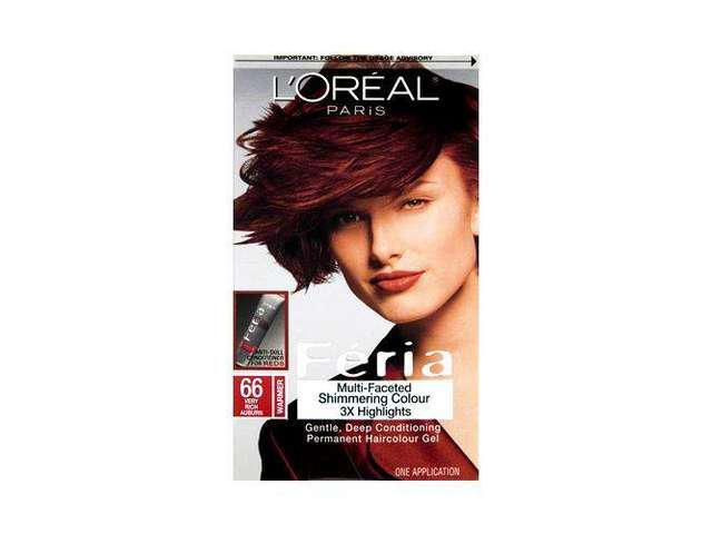 Loreal Feria Hair Color 66 Ruby Fusion Very Rich Auborn