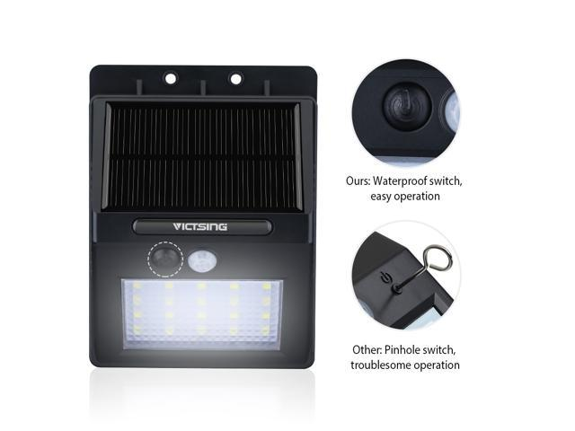 VicTsing 20LED Solar Panel Powered Motion Sensor Lamp Outdoor Light Garden Security Light 400lm