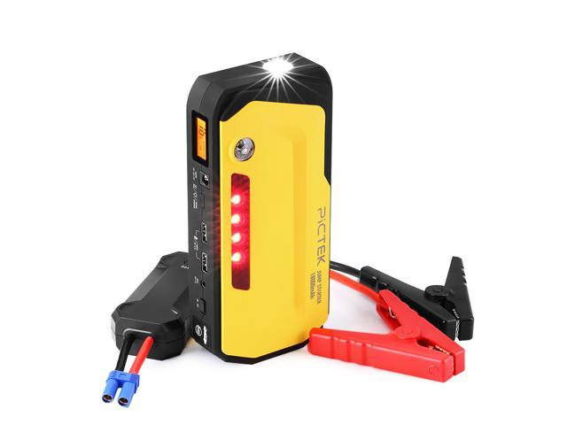 Victake 800A Peak 18000mAh Portable Car JumpStarter with LCD Screen, Phone Laptop Power Bank, Advanced safety, dual USBcharging ports and LED flashlight, warning light, compass