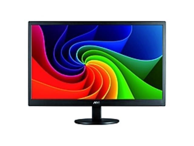"Refurbished: AOC E970SWN 18.5"" LED LCD Monitor - 16:9 - 5 ms - Adjustable Monitor Angle - 1366 x 768 - 16.7 Million Colors - 200 Nit - 700:1 - WXGA - VGA - 15 W - Black - RoHS, ENERGY STAR 6.0, EuP, EPEAT ..."