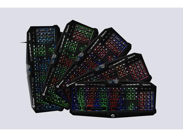 UtechSmart Saturn Saturn 7 Colors Backlit USB Multimedia Gaming Keyboard