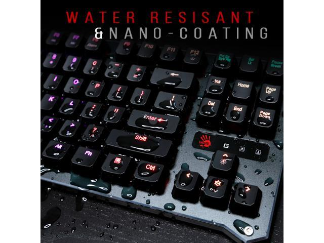 Bloody B945 Light Strike (LK Libra) Optical Gaming Keyboard with Aluminum Wrist Rest – Left Numpad - RGB LED Backlit - LK Orange Switch (Tactile & Clicky)