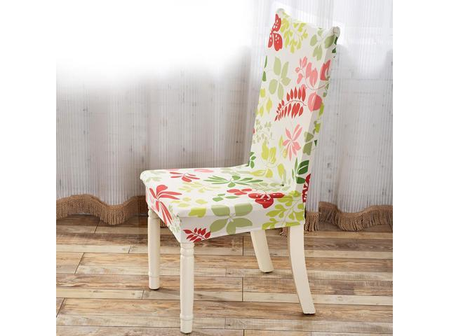 Removable Stretch Elastic Slipcovers Short Dining Room Chair Seat Covers