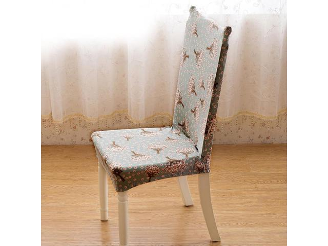 Removable Decor Stretch Elastic Slipcovers Short Dining Room Stool ...