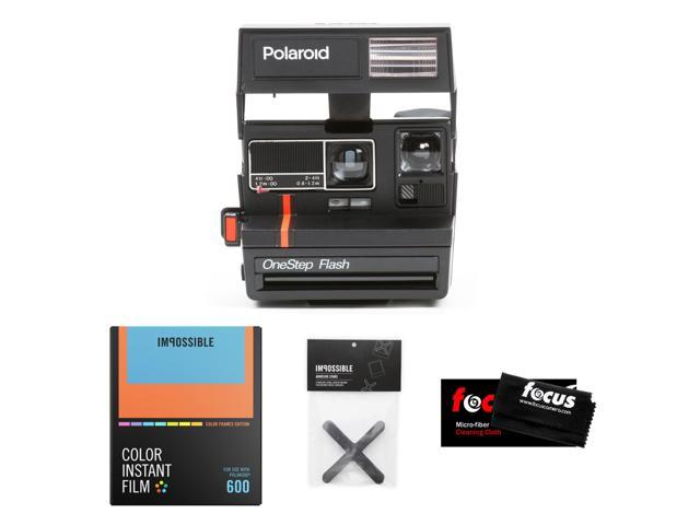 Refurbished: Impossible Project Polaroid 600 Red Stripe Camera w/ Color Film