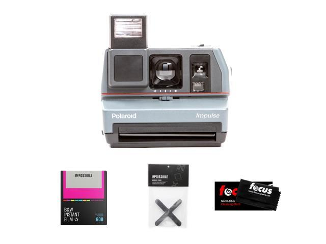 Refurbished: The Impossible Project Polaroid 600 Impulse Camera w/ B&W Hard Color Frame Film
