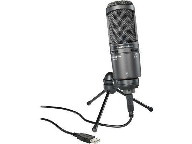 Audio-Technica AT2020USB+ Condenser USB Microphone w/ Knox Pop Filter & Boom Arm