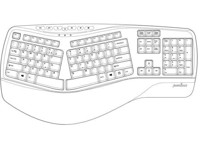 perixx periboard-512iib  ergonomic split keyboard - wired usb interface