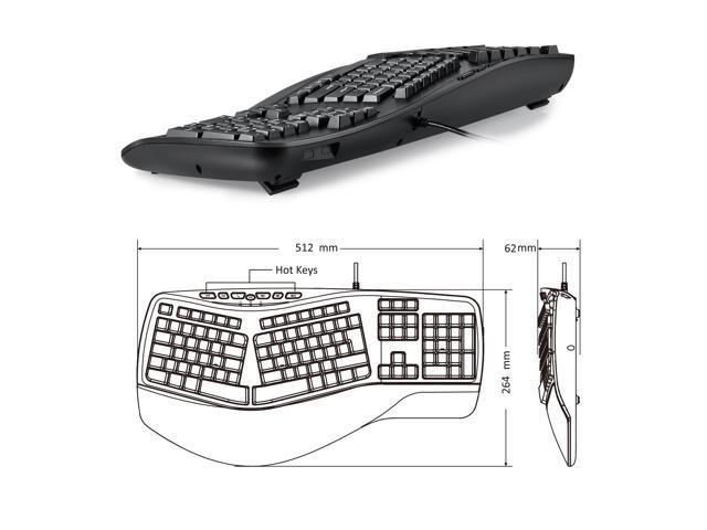 Perixx PERIBOARD312 Ergonomic Backlit Keyboard Wired USB with 2 – Light Keyboard Wiring Diagram