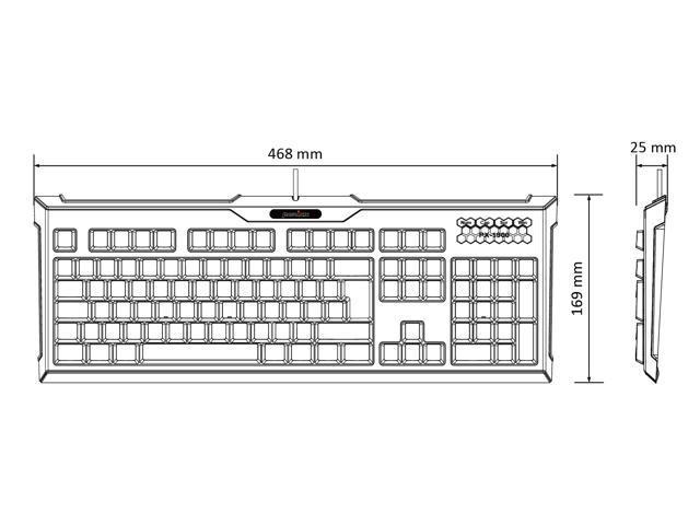 perixx px-1900 backlit gaming keyboard - high scissor structure - 19 keys anti-ghosting