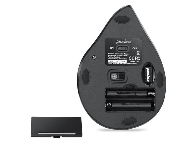 Perixx PERIMICE-718R Wireless 2.4 GHz Ergonomic Vertical Mouse, Big Right Hand Mouse, 5 Programmable Buttons, 3 DPI Level