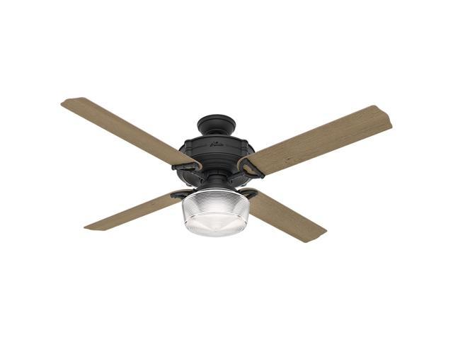 "Hunter 54177 Brunswick 60"" Ceiling Fan with Light, Natural Iron, works with Al"