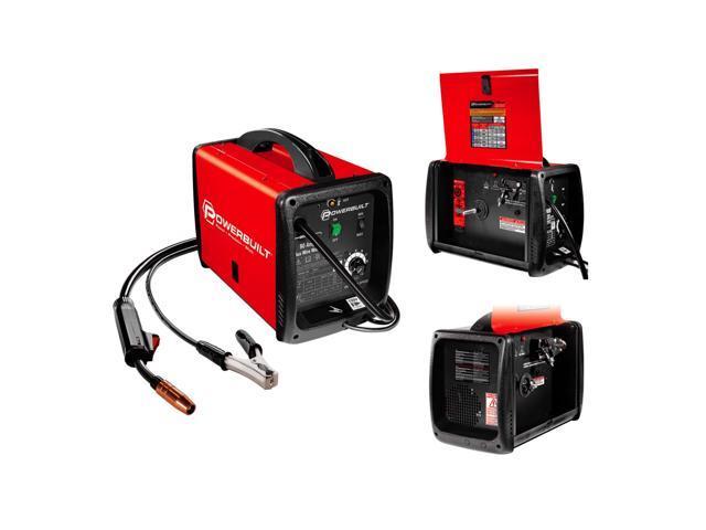 Powerbuilt Mig 90 Amp Flux Core Wire Feed Welder Compact - 240032