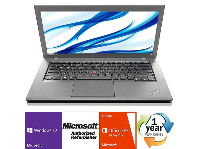 "Refurbished: Lenovo Thinkpad T440 Intel i5 Dual Core 1900 MHz 500Gig Serial ATA 4GB NO OPTICAL DRIVE 14.0"" WideScreen LCD Windows 10 Professional 64 Bit Laptop Notebook"