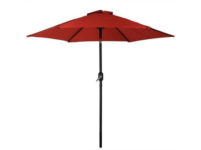 Sunnydaze Burnt Orange Aluminum 7.5 Foot Patio Umbrella With Tilt U0026 Crank  ...