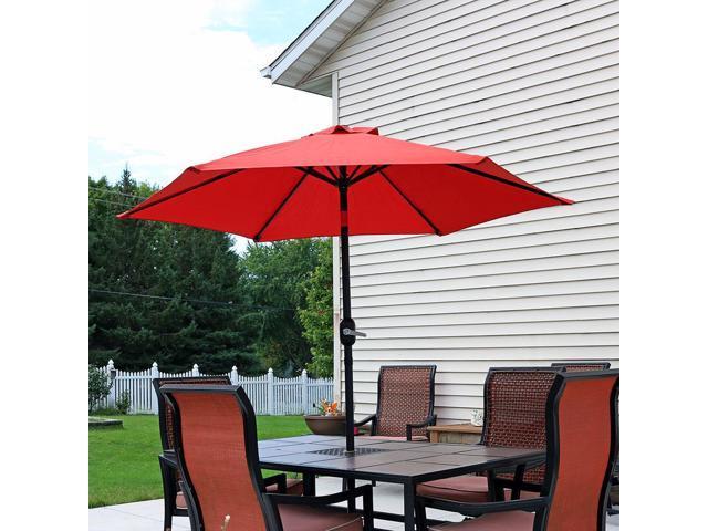 Beautiful Sunnydaze Burnt Orange Aluminum 7.5 Foot Patio Umbrella With Tilt U0026 Crank  ...
