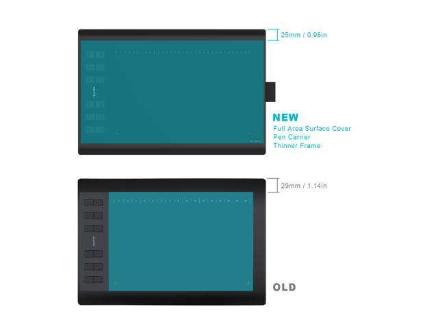 Huion New 1060PLUS  Graphic Drawing Tablet with 8192 levels Pen Pressure Built-in 8GB MicroSD Card and 12 Express Keys