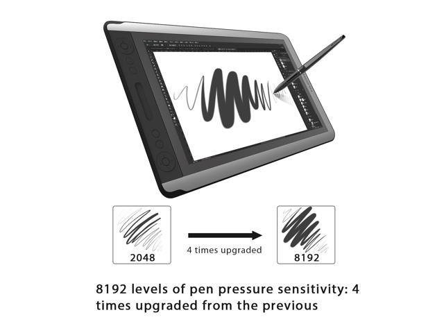 Huion Kamvas GT-156HD V2 Graphics Drawing Tablet Monitor Pen Display with 8192 Pen Pressure 14 Express Keys-Upgraded Version
