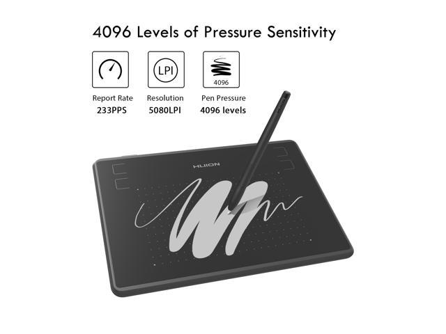 Huion Inspiroy H430P digital Graphics Drawing Tablet for OSU 4096 Pen Pressure Battery Free Pen and 4 Shortcut Keys