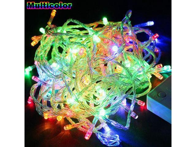 Multi-Color RGB - 200 LED 50 ft Fairy String Lights Lamp for Christmas Tree Holiday Wedding Party Xmas Decoration Halloween Showcase Displays Restaurant or Bar and Home Garden - OEM
