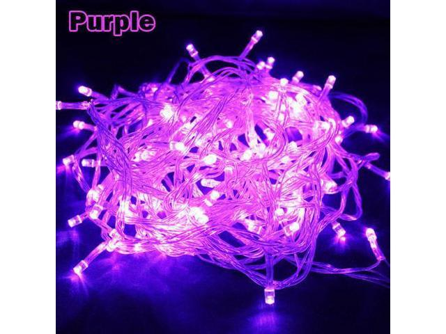 Purple - 200 LED 50 ft Fairy String Lights Lamp for Christmas Tree Holiday Wedding Party Xmas Decoration Halloween Showcase Displays Restaurant or Bar and Home Garden - OEM