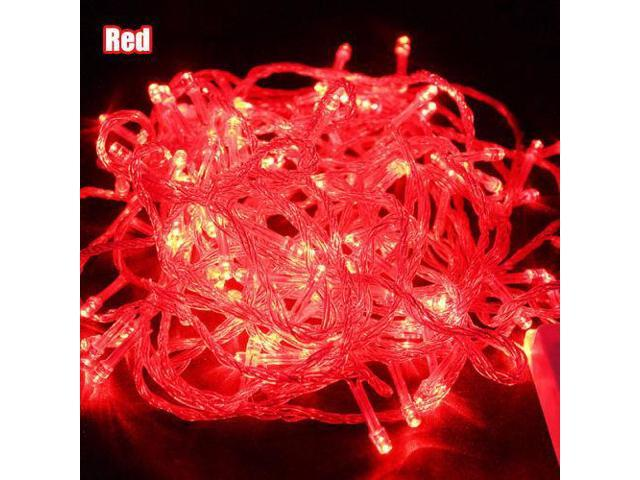 Red - 200 LED 50 ft Fairy String Lights Lamp for Christmas Tree Holiday Wedding Party Xmas Decoration Halloween Showcase Displays Restaurant or Bar and Home Garden - OEM