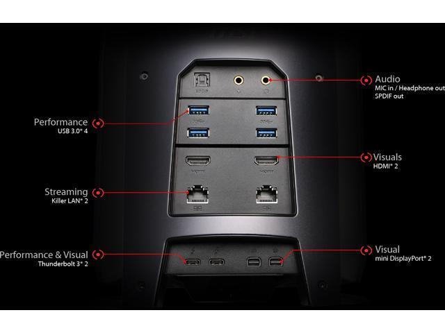 MSI Vortex G65VR-7RD Intel Core i7-7700 NVIDIA GeForce GTX 1060 6GB GDDR5 16 GB Memory 128 GB SSD + 1 TB HDD Windows 10 Gaming PC