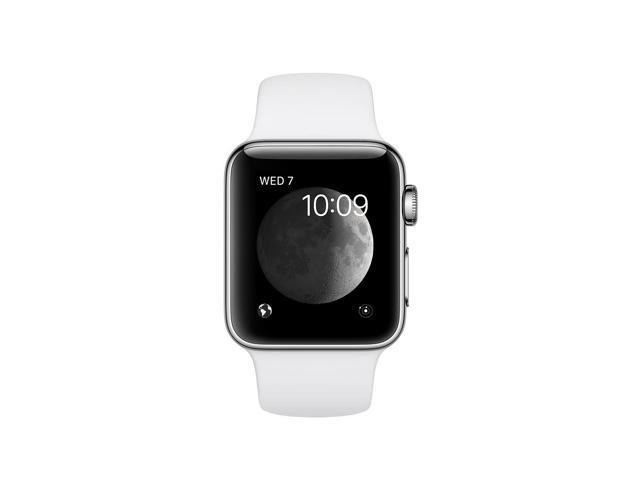 Refurbished: Apple Watch Series 2 38mm Silver Stainless Steel with White Sport Band