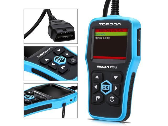 Topdon Ultrascan OBDCAN PLUS OBD2 Scan Tool Professional Car Diagnostic Scanner Universal OBDII Code Reader Car Fault Code Reader OBD2 Full Function with Mode 6 Better than the AUTEL AL519