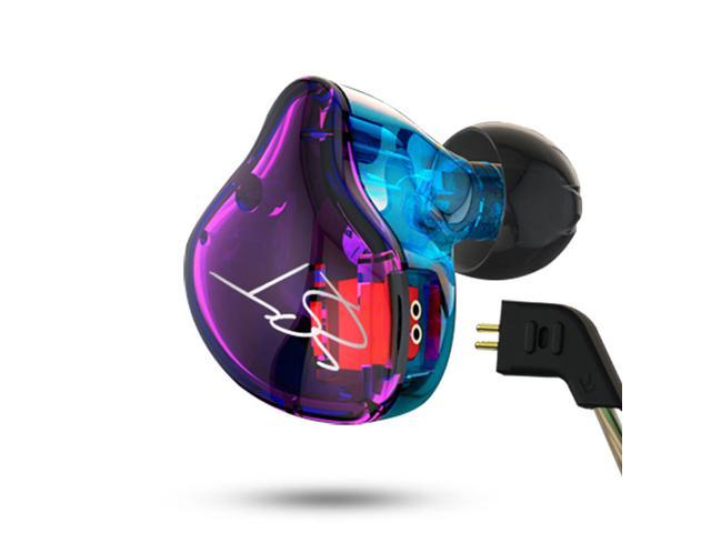 Original KZ ZST Pro Dynamic HiFi Bass Music Sport In-Ear Earphones with MIC Hybrid Drive - Colorful