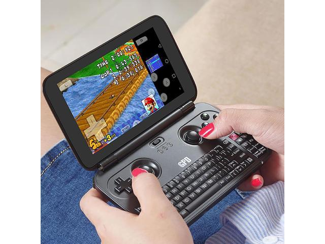 GPD Win Gamepad Laptop NoteBook Tablet PC 5.5 inch Game Console Intel Atom X7 Z8700 Windows 10 OS 4G/64GB Quad Core 2.4GHz Gorilla Glass 1280*720 - Black