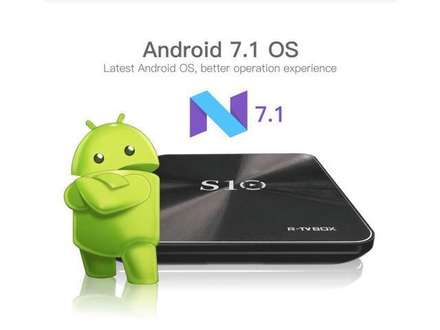 R-TV BOX S10 KODI 17.4 DDR4 3GB eMMC 32GB Android 7.1.2 4K TV Box S912 AC WIFI Gigabit LAN Bluetooth 4.1