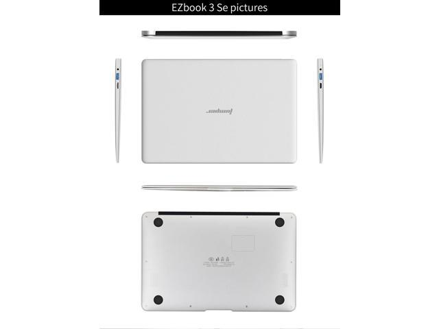 "[HK Stock] Jumper EZbook 3SE 13.3"" Notebook Laptop Intel Apollo Lake N3350 2.4GHz 3GB RAM 64GB ROM Windows 10 - Silver"