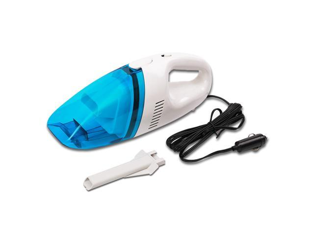 Car Vacuum Cleaner 60W Dual-use Portable Handheld Lightweight Auto Cleaner - Blue and White