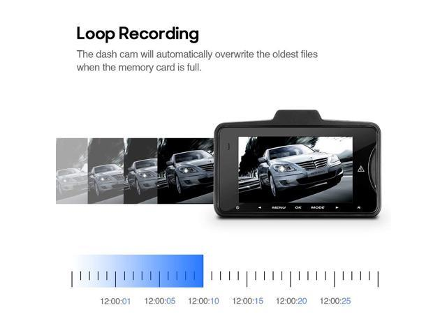 """Dash Cam Full with 2.7"""" TFT LCD Screen, Car Camera Recorder with 150 Wide Angle Lens Car DVR with G-sensor, Motion Detection Function"""