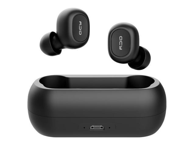 QCY T1 TWS Dual Bluetooth 5.0 Earphones with Mic Charging Box Noise Reduction - Black