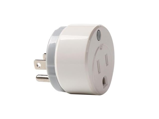 WR02W WiFi US Smart Plug Remote Control Appliance App Timing Function PC+ABS - White