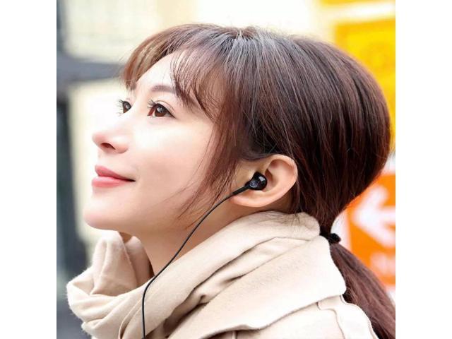 Original Xiaomi Type-C Earphone Dynamic Driver+Ceramics Driver In-ear Wired Headphone with Mic - Black