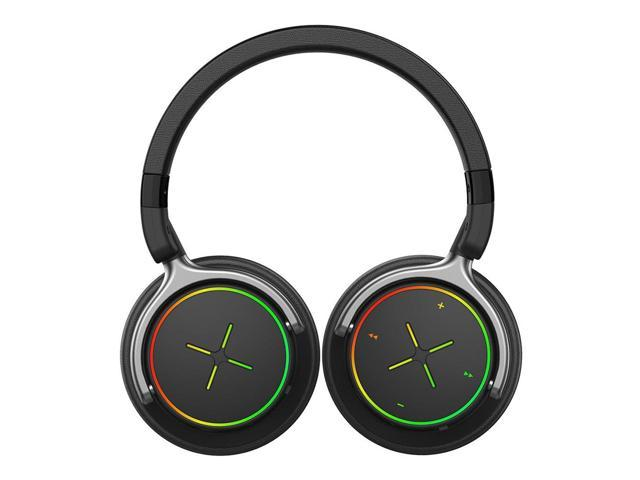 Ajazz AE03 40mm drivers Bluetooth4.0 Wireless Headset with RGB Illuminate - Black
